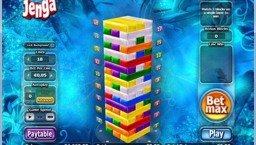 Jenga Slots Game Described for Players Online